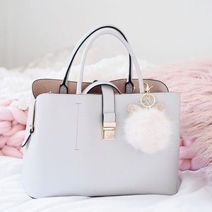 H&M Taupe Tog Bag